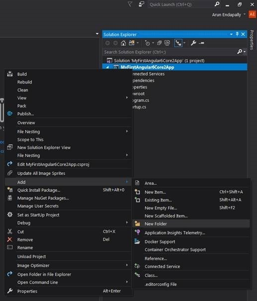 How to create an App with Angular 6 and ASP NET Core 2 0